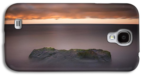 Galaxy S4 Case featuring the photograph Lone Stone At Sunrise by Adam Romanowicz