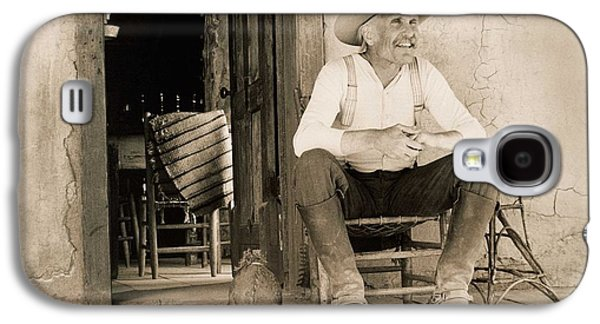Dove Galaxy S4 Case - Lonesome Dove Gus On Porch  by Peter Nowell