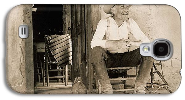 Lonesome Dove Gus On Porch Signed Print Galaxy S4 Case
