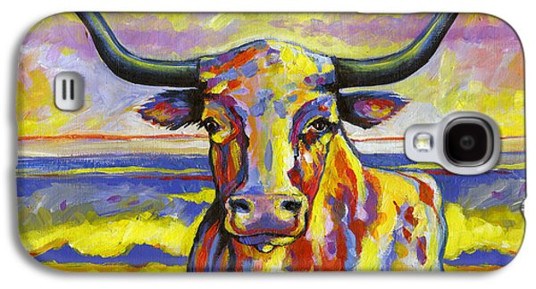 Long Horn At Sunset Galaxy S4 Case by Leanne Wilkes