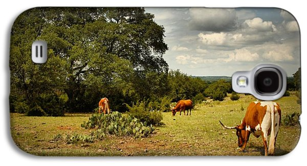 Longhorns Of Texas Galaxy S4 Case by Linda Unger