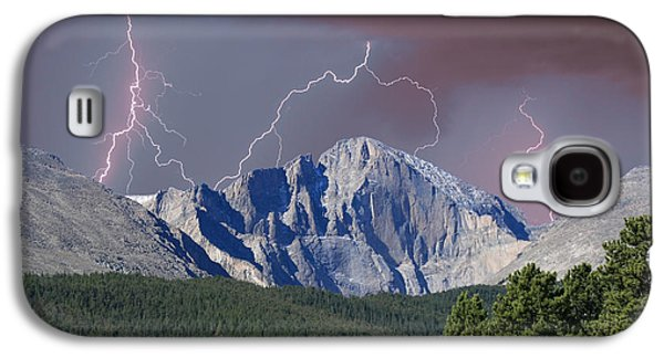 Longs Peak Lightning Storm Fine Art Photography Print Galaxy S4 Case by James BO  Insogna