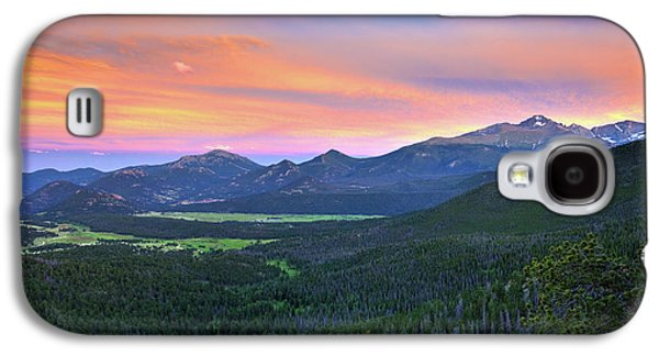 Galaxy S4 Case featuring the photograph Longs Peak Sunset by David Chandler