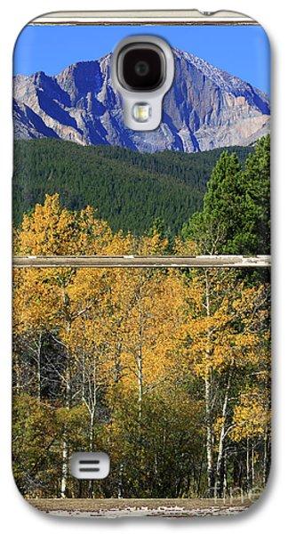 Longs Peak Window View Galaxy S4 Case by James BO  Insogna