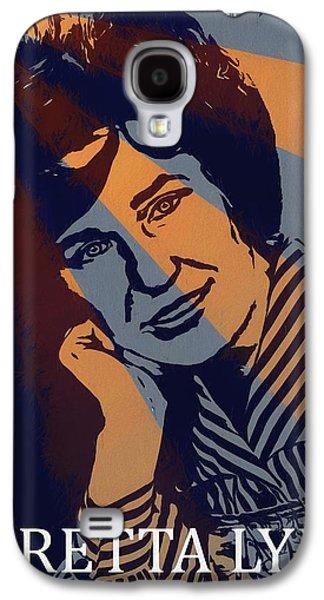 Loretta Lynn Poster Galaxy S4 Case by Dan Sproul