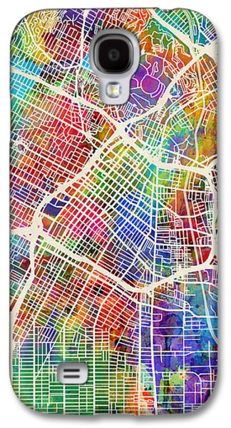 Los Angeles Galaxy S4 Case - Los Angeles City Street Map by Michael Tompsett