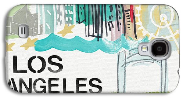 Downtown Galaxy S4 Case - Los Angeles Cityscape- Art By Linda Woods by Linda Woods