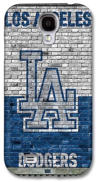 Los Angeles Dodgers Brick Wall Galaxy S4 Case by Joe Hamilton