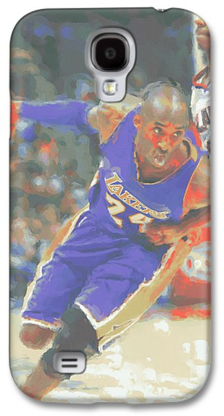 Los Angeles Lakers Kobe Bryant Galaxy S4 Case by Joe Hamilton