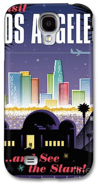 Los Angeles Retro Travel Poster Galaxy S4 Case