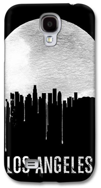 Los Angeles Skyline Black Galaxy S4 Case by Naxart Studio