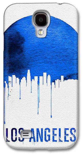 Los Angeles Skyline Blue Galaxy S4 Case by Naxart Studio