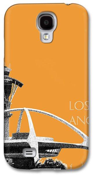 Los Angeles Skyline Lax Spider - Orange Galaxy S4 Case