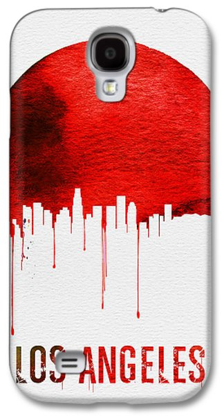 Los Angeles Skyline Red Galaxy S4 Case by Naxart Studio