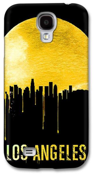 Los Angeles Skyline Yellow Galaxy S4 Case by Naxart Studio