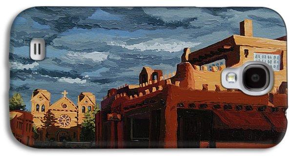 Los Farolitos,the Lanterns, Santa Fe, Nm Galaxy S4 Case by Erin Fickert-Rowland