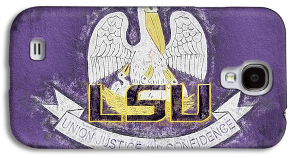 Galaxy S4 Case featuring the digital art Louisiana Lsu State Flag by JC Findley