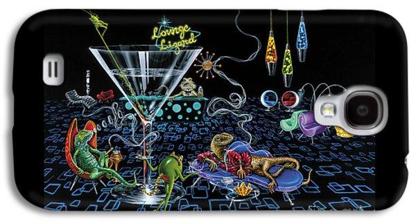 Lounge Lizard Galaxy S4 Case by Michael Godard