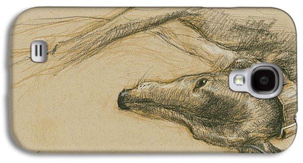 Lounging Greyhound Galaxy S4 Case