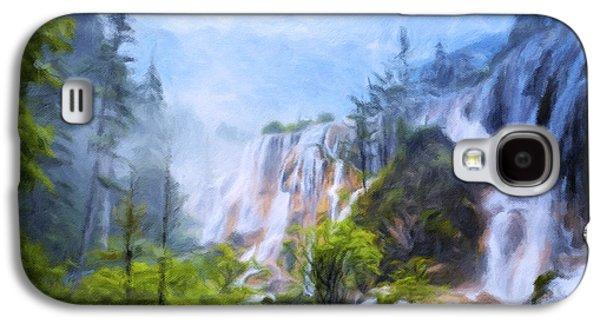 Love Affair By A Waterfall Galaxy S4 Case by Georgiana Romanovna