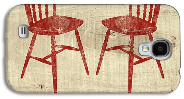 Love Always Red Chairs- Art By Linda Woods Galaxy S4 Case by Linda Woods