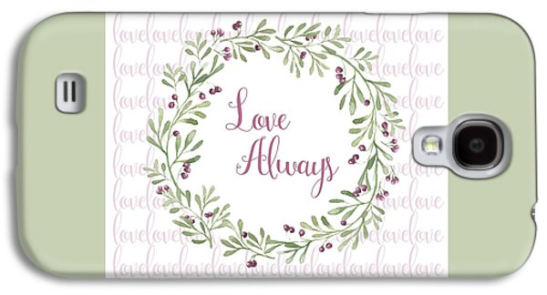 Love Always Wreath Pink And Green Square Galaxy S4 Case