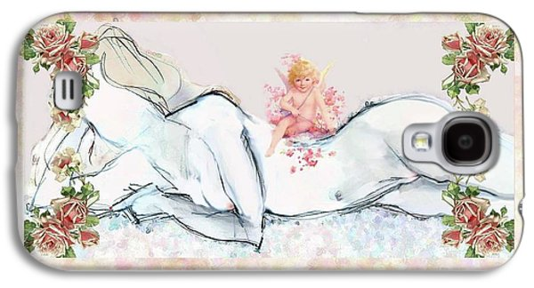 Love And Friendship - Valentine Card Galaxy S4 Case by Carolyn Weltman