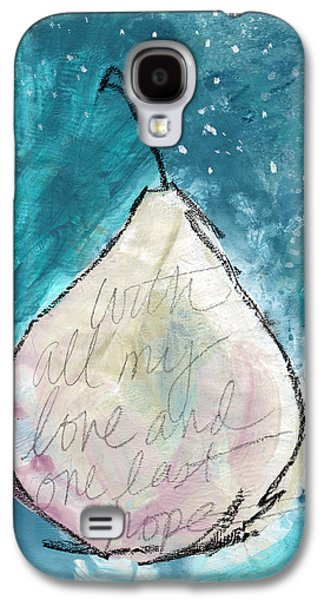 Pear Galaxy S4 Case - Love And Hope Pear- Art By Linda Woods by Linda Woods