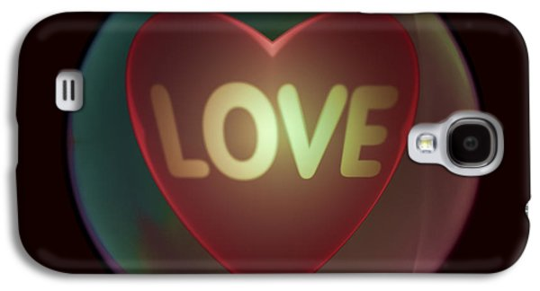 Love Heart Inside A Bakelite Round Package Galaxy S4 Case