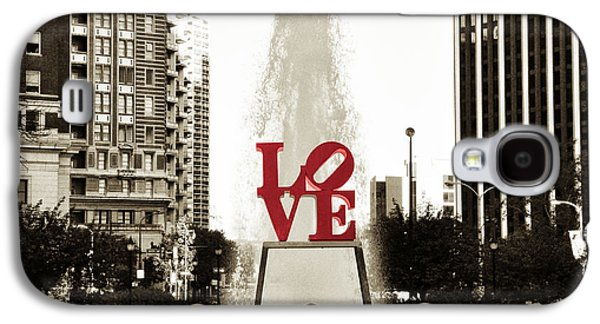 Love In Philadelphia Galaxy S4 Case by Bill Cannon