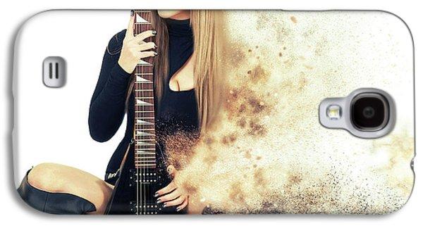 Love Music Galaxy S4 Case by Nichola Denny