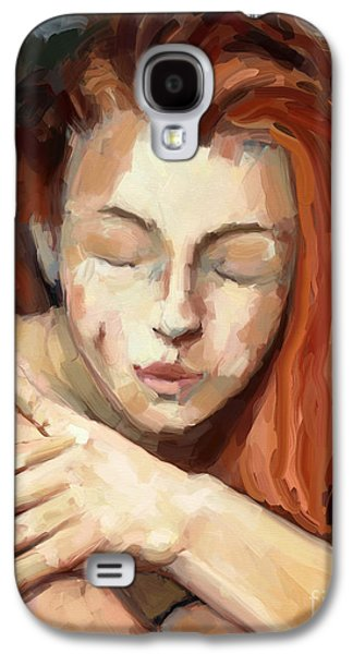 Love Yourself Galaxy S4 Case by Carrie Joy Byrnes