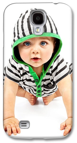 Lovely Boy Isolated On White Background Galaxy S4 Case