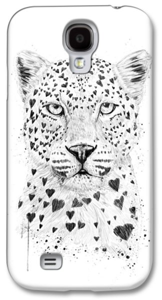 Lovely Leopard Galaxy S4 Case by Balazs Solti