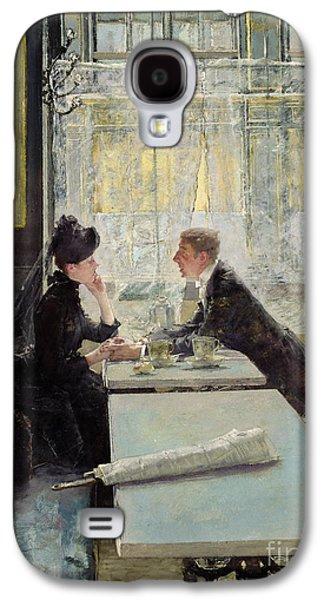 Lovers In A Cafe Galaxy S4 Case by Gotthardt Johann Kuehl