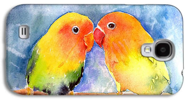 Lovey Dovey Lovebirds Galaxy S4 Case