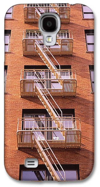 Low Angle View Of Fire Escape Ladders Galaxy S4 Case by Panoramic Images