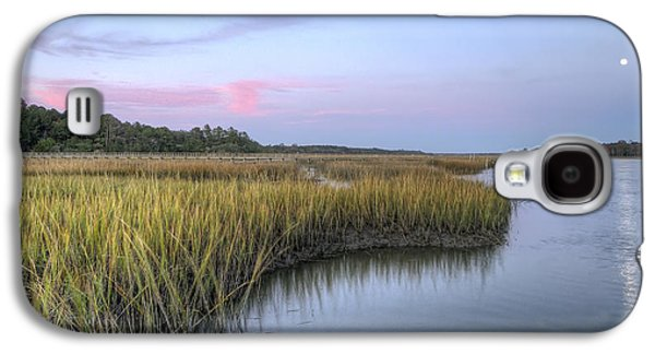 Creek Galaxy S4 Cases - Lowcountry Marsh Grass on the Bohicket Galaxy S4 Case by Dustin K Ryan
