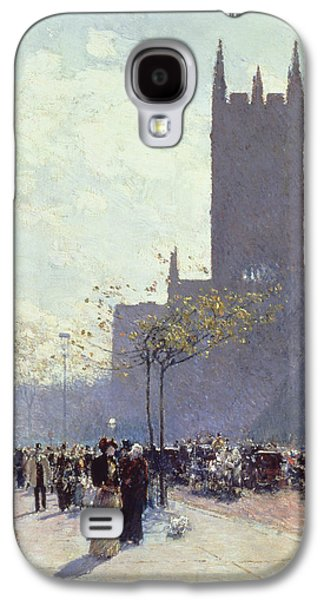 Lower Fifth Avenue Galaxy S4 Case by Childe Hassam