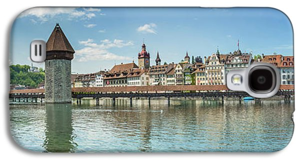 Lucerne Chapel Bridge And Water Tower - Panoramic Galaxy S4 Case by Melanie Viola