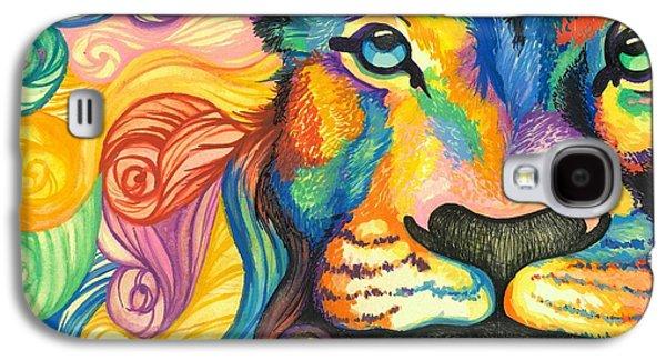 Lucky Lion Spirit Galaxy S4 Case by Sarah Jane