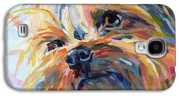 Terrier Galaxy S4 Cases - Lucy in the Sky Galaxy S4 Case by Kimberly Santini