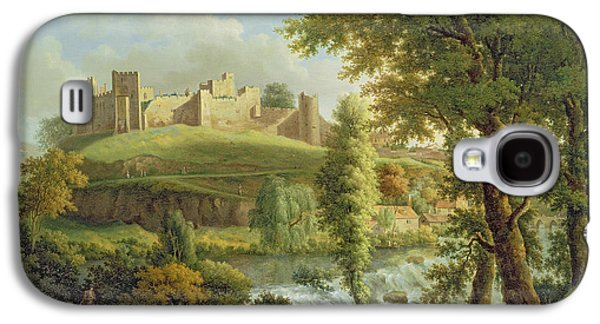 Ludlow Castle With Dinham Weir Galaxy S4 Case by Samuel Scott