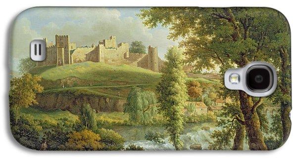 Castle Galaxy S4 Case - Ludlow Castle With Dinham Weir by Samuel Scott