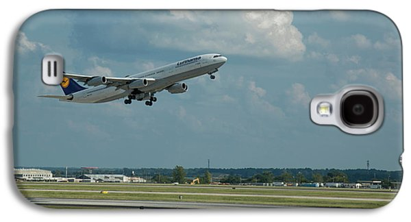 Lufthansa Airlines A Departure Too Airbus 340-300 D-aigo Airport Art Galaxy S4 Case