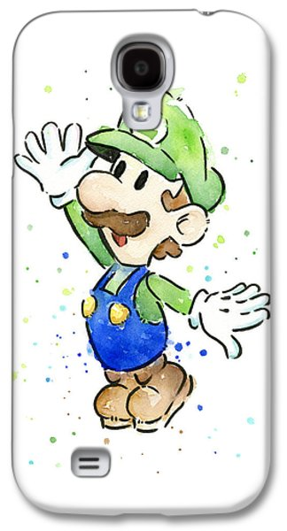 Luigi Watercolor Galaxy S4 Case