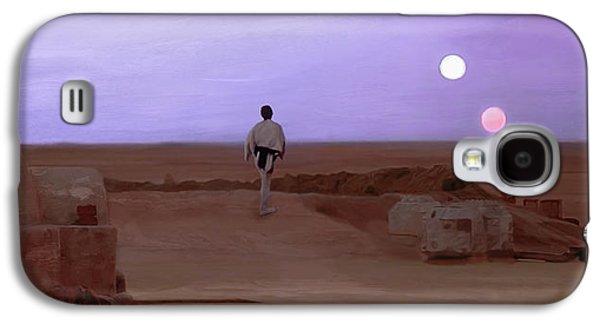 Luke Double Sunset Galaxy S4 Case by Mitch Boyce