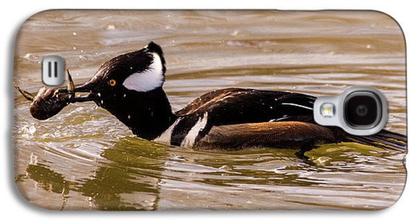 Galaxy S4 Case featuring the photograph Lunchtime For The Hooded Merganser by Randy Scherkenbach