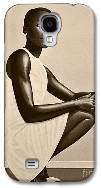 Lupita Nyong'o Galaxy S4 Case by Paul Meijering