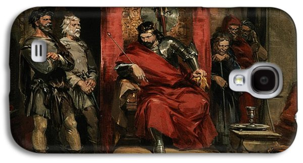 Macbeth Instructing The Murderers Employed To Kill Banquo Galaxy S4 Case by George Cattermole